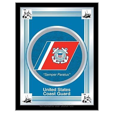 Holland Bar Stool US Armed Forces Logo Mirror Framed Graphic Art; Coast Guard