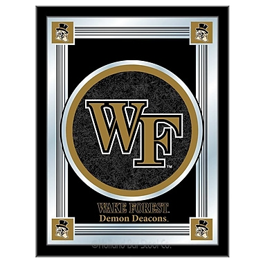Holland Bar Stool NCAA Logo Mirror Framed Graphic Art; Wake Forest