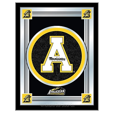 Holland Bar Stool NCAA Logo Mirror Framed Graphic Art; Appalachian State