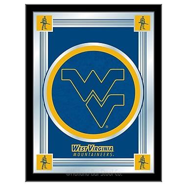 Holland Bar Stool NCAA Logo Mirror Framed Graphic Art; West Virginia