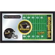 Holland Bar Stool NCAA Football Mirror Framed Graphic Art; Michigan Tech