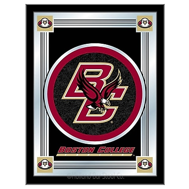 Holland Bar Stool NCAA Logo Mirror Framed Graphic Art; Boston College