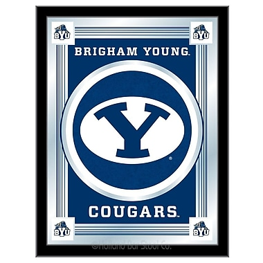 Holland Bar Stool NCAA Logo Mirror Framed Graphic Art; Brigham Young