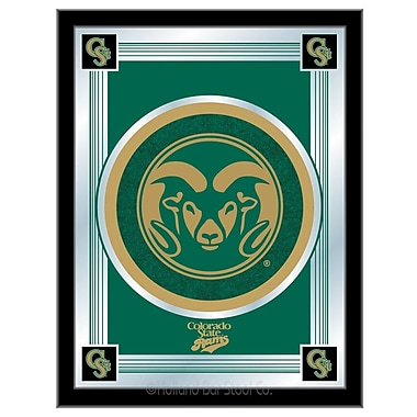 Holland Bar Stool NCAA Logo Mirror Framed Graphic Art; Colorado State