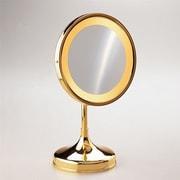 Windisch by Nameeks Round Pedestal Magnifying Mirror; Chrome