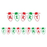 Secretly Designed Merry Christmas Lights Art Print