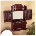 Wildon Home   Kent Wall Mounted Jewelry Armoire with Mirror