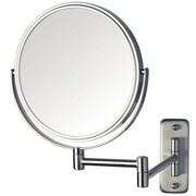 Jerdon Dual Sided Wall Mount Mirror; Nickel