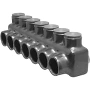 Morris Products Single Entry Multi-Cable Connector in Black with 7 Ports 2/0 - 14''