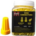 MorrisProducts Screw-On Wire P4 Large Connectors Jar in Yellow
