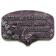 Montague Metal Products Butterfles and Flowers Garden Sign