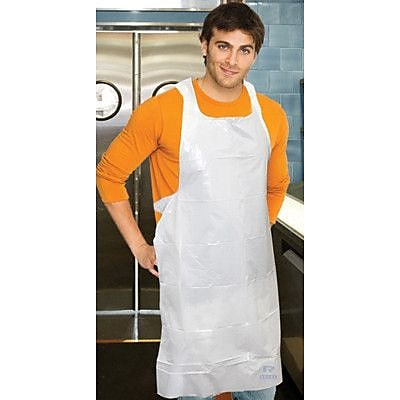Royal Toner 28 Polyethylene Apron in White