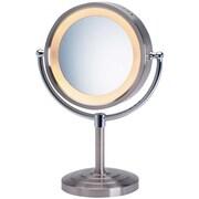 Jerdon Halo Lighted Tabletop Vanity Mirror