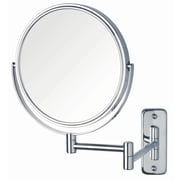 Jerdon Dual Sided Wall Mount Mirror; Chrome