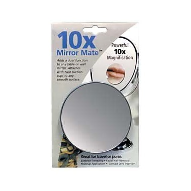 Floxite Mirror Mate w/ Suction Cups; 10x