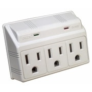 MorrisProducts 3 Outlet Wall Outlet Surge Protector