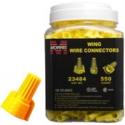 MorrisProducts Twisted Wing Large Jar Connectors in Yellow