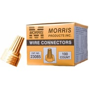 MorrisProducts Twisted Wing Connectors in Tan (Boxed 100 Pack)