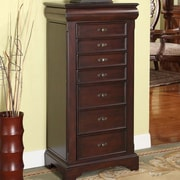 Wildon Home   Lewis Jewelry Armoire with Mirror