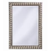 Howard Elliott Contemporary Moore Wall Mirror; Silver Leaf