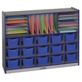 ECR4Kids Multi Section Storage Unit 31 Compartment Cubby; Blue