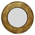 Oriental Furniture Round Calligraphy Wall Mirror