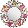 Oriental Furniture Flowing Leaves and Flowers Beaded Mirror