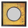 Oriental Furniture Circle in Square Calligraphy Wall Mirror