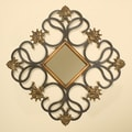 Passport Diamond Shaped Wall Mirror