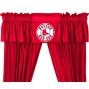 Sports Coverage MLB Boston Red Sox 88'' Curtain Valance