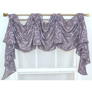 RLF Home Brode Victory 36'' Curtain Valance; Plum