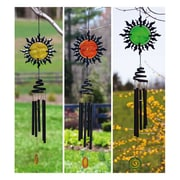 Evergreen Flag & Garden Sun Face Wind Chime (Set of 3)