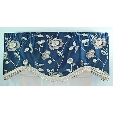 RLF Home Bonita 50'' Curtain Valance; Navy