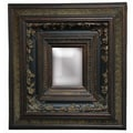 Imagination Mirrors Entwined Borders Wall Mirror; Dark Gold with Patina Dusting