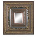 Imagination Mirrors Entwined Borders Wall Mirror; Dark Gold
