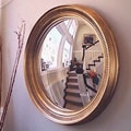 Reflecting Design  Ilyrian 33  Convex Wall Mirror; Black Grain