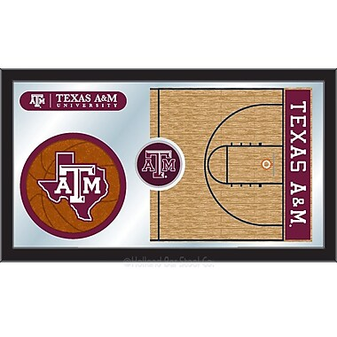 Holland Bar Stool NCAA Basketball Mirror Framed Graphic Art; Texas A&M
