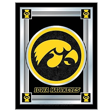 Holland Bar Stool NCAA Logo Mirror Framed Graphic Art; Iowa