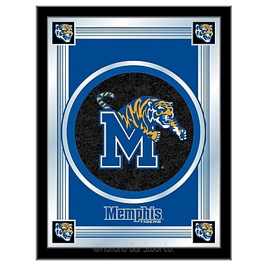 Holland Bar Stool NCAA Logo Mirror Framed Graphic Art; Memphis