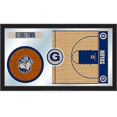 Holland Bar Stool NCAA Basketball Mirror Framed Graphic Art; Georgetown