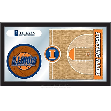 Holland Bar Stool NCAA Basketball Mirror Framed Graphic Art; Illinois