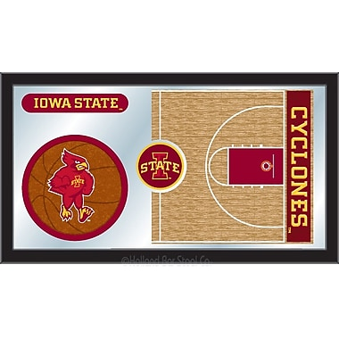 Holland Bar Stool NCAA Basketball Mirror Framed Graphic Art; Iowa State