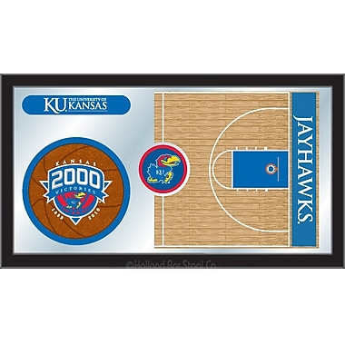 Holland Bar Stool NCAA Basketball Mirror Framed Graphic Art; Kansas