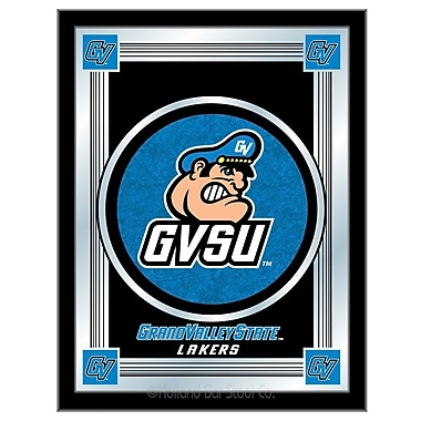 Holland Bar Stool NCAA Logo Mirror Framed Graphic Art; Grand Valley State