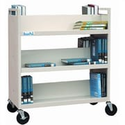 Buhl Steel Book Truck (With 6 Shelves); Putty
