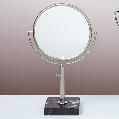Bissonnet Kosmetic Astoria Makeup Mirror; Brushed Nickel