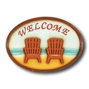RAM Game Room ''Welcome'' Chairs Outdoor Sign