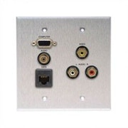 Comprehensive Wallplate with VGA, Stereo Mini, RJ-45, and 3 RCA Connectors; Passthru