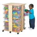 Jonti-Craft Tower 24 Compartment Cubby; Clear