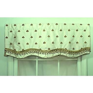 RLF Home Bumblebee Glory 50'' Curtain Valance; Cream